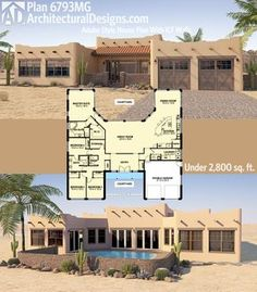 Architectural Designs Southwest Home Plan 6793MG Looks Great Front And  Back. Ready When You Are Part 64
