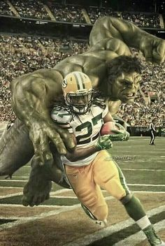 Even the Hulk can't stop him Green Bay Packers #Packers #Cheeseheads #GreenBay [Follow WisconsinHouses for more local pins]