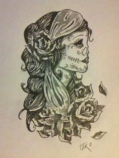 Gypsy sugar skull tattoo