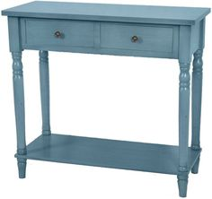 Crestview Collection FZR675DBL Treasure Collection Distressed Blue 32 X 14 X 30.5