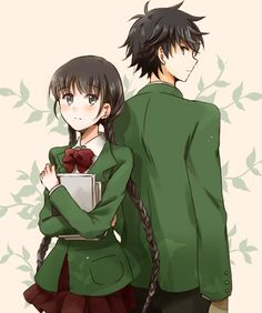 Izumiko x Miyuki! I really like this couple. From Red Data Girl Anime