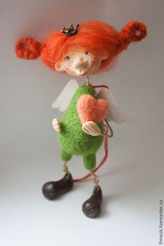 Человечки ручной работы. Ярмарка Мастеров - ручная работа. Купить Фуфочки. Handmade. Феечка, душевный подарок, авторская игрушка Wool Dolls, Clay Dolls, Knitted Dolls, Felt Dolls, Needle Felted Ornaments, Felt Ornaments, Granny Dolls, Marionette, Hand Art