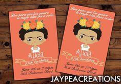 Frida Kahlo fun invites you print Do It by PerfectPartyParade