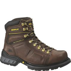 Cat Footwear Men's Endure Steel-Toe Work Boots (Brown, Size - Lace St Work Boots at Academy Sports Comfortable Steel Toe Boots, Steel Toe Work Boots, Caterpillar Shoes, Hunting Boots, Casual Boots, Brown Boots, Fashion Boots, Shoe Boots, Dark Brown