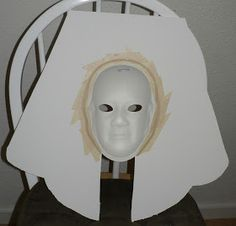 The following includes my directions for creating an Ancient Egyptian Death Mask.  Materials needed :  Foam board Paper mache' mask (mine we...