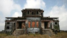 """""""Bokor Hill Station is the trifecta of awesome: it's abandoned, historic and open to the public"""" """"The abandoned Cambodian resort town has a dark past that matches its eerie current state. Commissioned by French colonists, it was built by indentured servants and completed in 1925. During construction it is believed that nearly 1000 Cambodians died."""" Located in Kampot, southern Cambodia"""