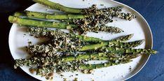 Super Savory Seed-Crusted Asparagus with pepitas + furikake seasoning, via The New Potato Cookbook on thebacklabel.com