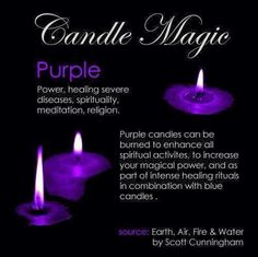 Candles:  #Candle Magic ~ Purple.