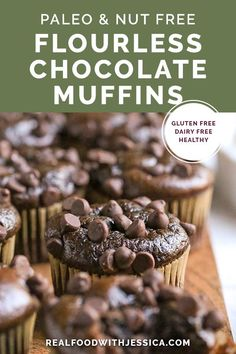 These Paleo Flourless Mini Chocolate Muffins are quick to make and so tasty. The… These Paleo Flourless Mini Chocolate Muffins are quick to make and so tasty. They are gluten free, dairy free, nut free, and naturally sweetened. Healthy Chocolate Muffins, Flourless Chocolate, Gluten Free Chocolate, Chocolate Recipes, Flourless Muffins, Gluten Free Muffins, Gluten Free Desserts, Dairy Free Recipes, Paleo Recipes