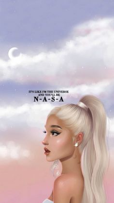 It's like I'm the universe Ariana Grande Lyrics, Ariana Grande Drawings, Ariana Grande Wallpaper, Ariana Grande Photos, Of Wallpaper, Iphone Wallpaper, Cartoon Wallpaper, Dangerous Woman, Aesthetic Photo
