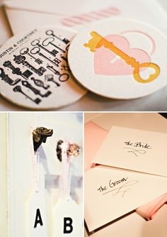 """KEY TO MY HEART"" DIY PINK & BLACK WEDDING 