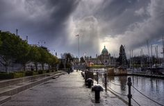 Beautiful Cloudy day on the Inner Harbour