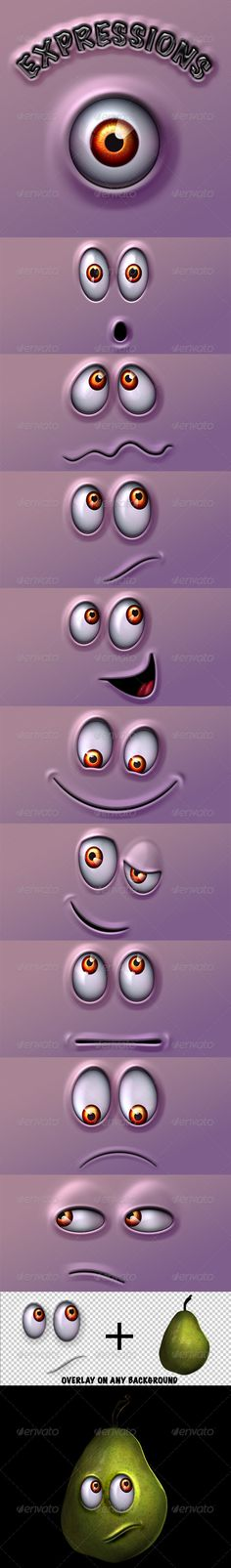 Character Expressions Pack  #GraphicRiver