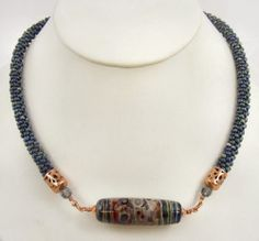Sweet Freedom Designs: New Kumihimo Necklace with Picasso Finish Seed Beads