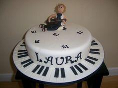 Black & White Music Cake by Aardvark Cakes, via Flickr