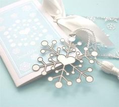 """Mark the Date"" Snowflake Bookmarks - BlissfulFavors.com"