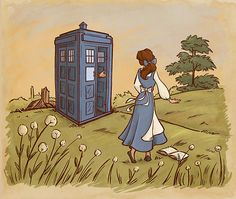 These are great! Dr Who meets the princesses.