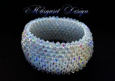 Bling Capricho Wrap Around bracelet.... Swarovski crystals bicone beads, Czech seed beads... Made With Love....