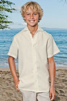 Katrina - You should check this website out Boy's Linen Amalfi shirt (SS)