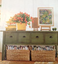 I need this table & these baskets. Organize your home-entrance to suit your needs.