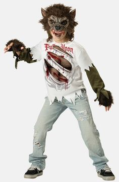 Free shipping and returns on InCharacter Costumes Werewolf Costume (Little Boys & Big Boys) at Nordstrom.com. Let him go beast mode in a werewolf costume that includes a chinless mask, slashed T-shirt with chest inset and fingerless paws—uh, gloves, that is.
