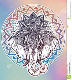 Resultado de imagen para elefante mandala