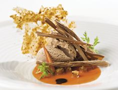 Charlie-Trotter-Charlie-Trotters-Carrot-Chocolate- picture of plating only