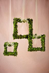 """Boxwood Wreath Frames (3) making these!!!  So perfect for my """"Woodland Theme"""""""