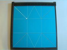 Explosion Box Purse Tutorial ~ updated to use a scoring board. Brenda Quintana, Qbee's Quest