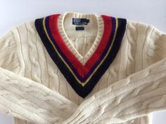 Vintage Tennis Sweater / Ralph Lauren Retro by VintageByBeth