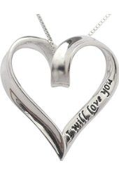 """925 Sterling Silver I Will Love You Always & Forever Heart Necklace 18"""" Chain Gift By Trulycharming $54.99 Prime Truly Charming"""
