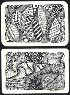 """""""Enthusiastic Artist"""" . great site  for zentangle artists"""