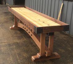 SHUFFLEBOARD: Craftsman Shuffleboard Table by IndustrialFarmHouse on Etsy https://www.etsy.com/listing/254668454/shuffleboard-craftsman-shuffleboard