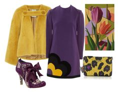"""""""Purple&yellow"""" by subvilli on Polyvore featuring Irregular Choice, Vivienne Westwood, NOVICA, yellow, purple and polyvorefashion"""