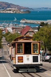 Cable Cars: No trip to S.F. would be complete without a ride on the historic (and iconic) cable cars! Of the three routes, the Powell-Hyde line is the most fun, going across the infamously crooked Lombard Street and ending within walking distance of Ghirardelli Square.