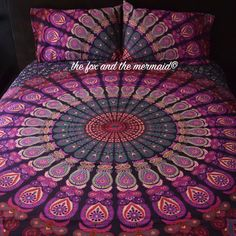 Mandala tapestry duvet cover and 2 matching by TheFoxAndTheMermaid