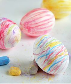 Easter Eggs | Chalk Eggs made with technique that seals in chalk! | willowday