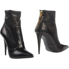 Giuseppe Zanotti Design Ankle Boots ($394) ❤ liked on Polyvore featuring shoes, boots, ankle booties, heels, black, heeled booties, short heel boots, black ankle bootie, black bootie boots and heeled ankle boots