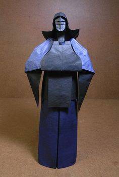 Amazing Origami Models from Japanese Culture and Mythology Origami Artist, Japanese Mythology, Origami Models, Kendo, Japanese Culture, Armour, Helmet, Traditional, People