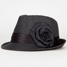 Flower Straw Womens Fedora. If only I didn't look so stupid in hats.