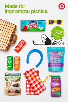 Pack up some healthier, GMO-free goodies for picnic time from brands like Annie's, Cascadian Farm, Stonyfield and more. Eating better can taste better, too.