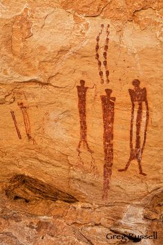 """""""Barrier Canyon"""" style pictographs II;, Utah, US.    DONE!!!! We saw Newspaper Rock and back country petroglyphs 4/2/2013!!"""
