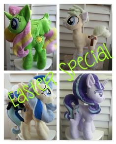 Easter special MLP plushie commissions Open by CINNAMON-STITCH.deviantart.com on @DeviantArt