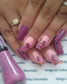 Navy Nails, Gold Nails, Stiletto Nails, Coffin Nails, Short Nail Designs, Nail Art Designs, Mani Pedi, Pedicure, Pink Coffin