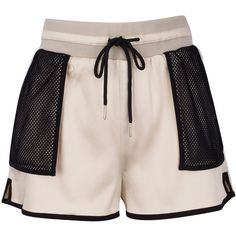 SATIN SHORT ($47) ❤ liked on Polyvore featuring shorts, bottoms, short, short shorts and satin shorts