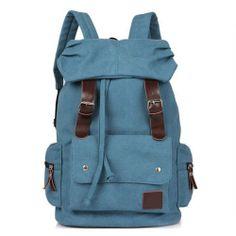 Larger Vintage Canvas Hiking Travel Military Backpack Messenger Bag   eBay