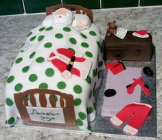 Father Christmas in Bed