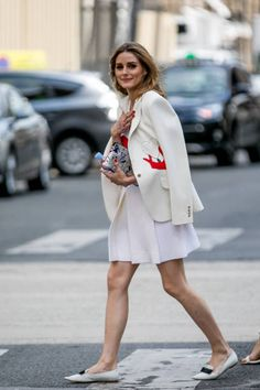 Olivia Palermo is seen on July 3 2017 in Paris France
