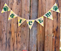 Sic 'Em Burlap Banner for Baylor University by LylaDee on Etsy, $16.00