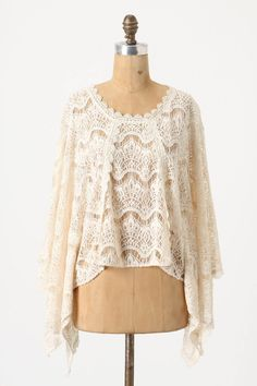The least poncho-y poncho EVER. So feminine and dressy. Thank you, Anthropologie.